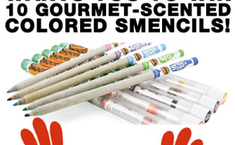 Win 10 gourmet-scented Colored Smencils