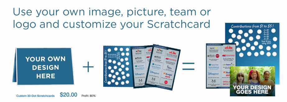 custom scratchcard fundraising ideas